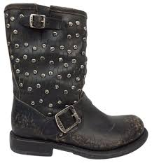 motorcycle black boots frye jenna cut stud women u0027s short moto biker motorcycle black