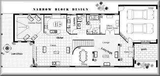 narrow home designs 9 small lot homes plans australia house for narrow lots peaceful