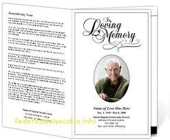 memorial service programs templates free entertaining order of service for memorial service template free