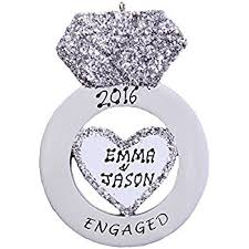 personalized engagement ring ornament home kitchen