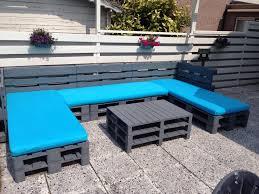 Pallet Patio Furniture Pinterest - een loungebank van 15 euro pallets en 3 beklede matrassen