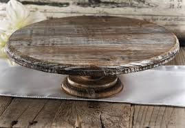 16 Inch Pedestal Cake Stand Rustic Cake Stands Bespoke Decor