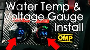 wiring and installing water temp u0026 voltage gauge from dragon