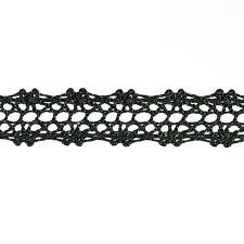 black lace trim 5 8 crochet lace trim black discount designer fabric fabric
