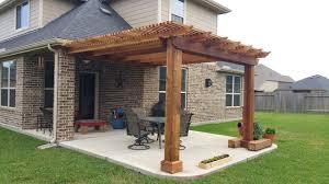 Outdoor Patio Covers Pergolas Pergolas Arbors And Gazebos Craftsman Patio Houston By