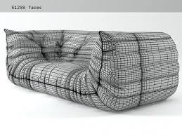 togo sofa togo sofa 198 3d model ligne roset