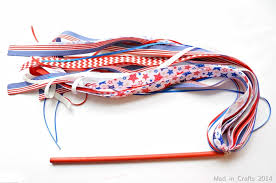 parade ribbon patriotic ribbon wand mad in crafts