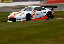 gulf porsche 911 no 86 gulf racing porsche 911 rsr on track