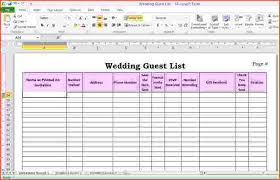 wedding invitation exle wedding guest list template excel or and party guest list