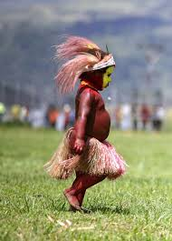 New Guinea Flag Young Papua New Guinea With Face Paint And Traditional