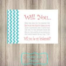will you be my bridesmaid poems diy printable chevron will you be my bridesmaid poem personalized
