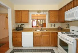 kitchens with white appliances and oak cabinets kitchen decor