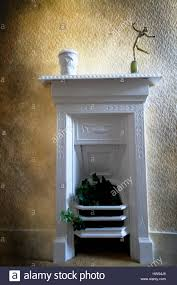 white painted victorian cast iron fireplace stock photo royalty