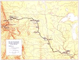 missouri breaks map national park service lewis and clark survey of historic