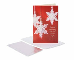 snowflakes christmas boxed cards 14 count shop american greetings