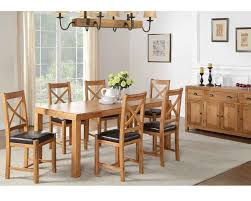 oakridge solid oak extending dining table and chairs gardiner