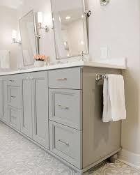 Double Faucet Bathroom Wall Mirrors Brown Finish Stained Wooden Plastering Wall