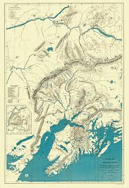 United States Map With Alaska by Old State Map Alaska Central Portion Sleem 1910