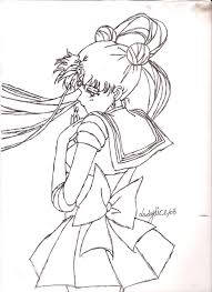 sailor moon pen sketch by ladydice69 on deviantart