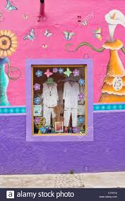 clothing store window display colorful wall murals opus boutique clothing store window display colorful wall murals opus boutique ajijic jalisco mexico latin america