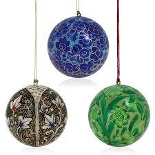amazon com christmas tree hanging ornaments handmade paper mache