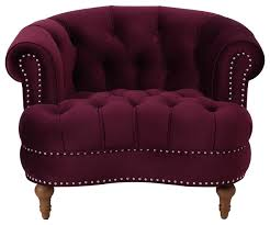 Tufted Accent Chair La Rosa Tufted Accent Chair Traditional Armchairs And Accent