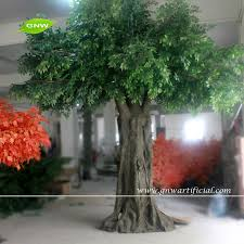 gnw btr047 large decorative artificial plants green plastic leaf