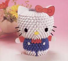 cara membuat origami hello kitty 3d 3d origami doraemon anime 3d origami d pinterest 3d origami