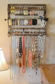 Diy Jewelry Armoire 25 Best Pallet Jewelry Holder Ideas On Pinterest Jewelry
