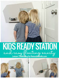 vanity for child remodelaholic diy kids floating vanity station
