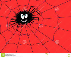 halloween background funny halloween funny spider on the red cobweb stock vector image