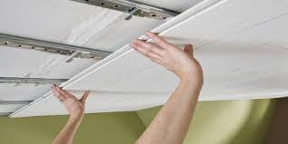 How To Put Up Tin Ceiling Tiles by Installing Ceiling Tiles Armstrong Ceilings Residential