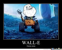Meme E - wall e forever alone by chain meme center