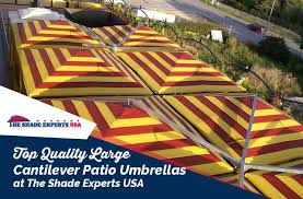top quality large cantilever patio umbrellas at the shade experts