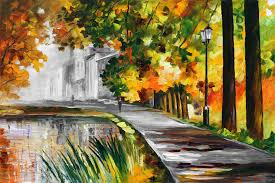 halloween color palette summer pond u2014 palette knife mixed color and black and white oil