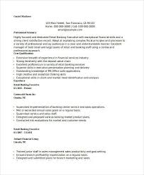 Bank Sales Executive Resume Banking Resume Samples 45 Free Word Pdf Documents Download