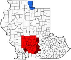 map of ky and surrounding areas illinois indiana kentucky tri state area