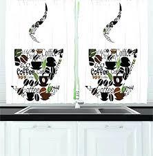 Coffee Themed Curtains Coffee Themed Kitchen Curtains Bloomingcactus Me