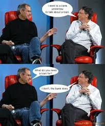 Bill Gates Steve Jobs Meme - so nice steve jobs vs bill gates loan quotes i like