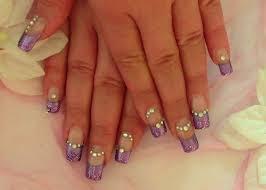 n gel selber designen lila glam nails nageldesign selber machen für anfänger nail