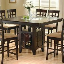 counter height dining table with storage coaster hyde counter height square dining table with storage base in