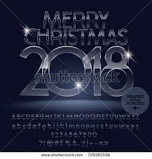 vector glass merry 2018 greeting stock vector 728301556