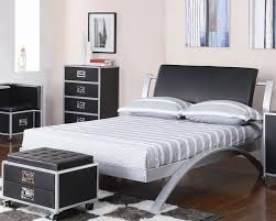 Modern Bedroom Furniture Atlanta Metal Beds Atlanta Silver Black Double Bed Frame In Modern Designs