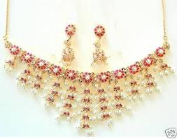 heavy diamond earrings bridal design heavy necklace with jhumka earrings gleam jewels