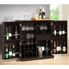 Home Bar Furniture Baxton Studio Stamford 12 Bottle Dark Brown Bar Cabinet 28862 4107