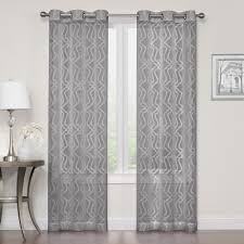 Hypoallergenic Curtains Court 2 Pack Asbury Clipped Sheer Window Curtains