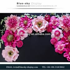 floral decor colorful paper flower decoration wall paper flowers display show