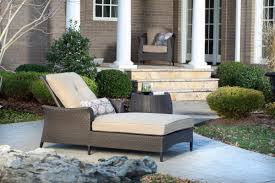 gramercy outdoor chaise lounge chair and table set