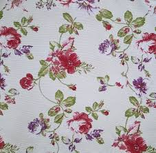 Red Drapery Fabric Blossom Floral Pattern Curtain Fabric Curtains U0026 Fabx