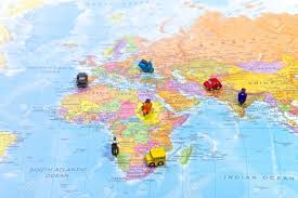 world map with magnets on countries stock photo picture and
